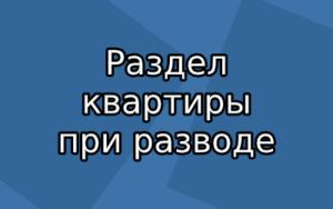 Как правильно разделить квартиру при разводе в России