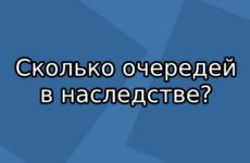 Сколько очередей наследования по закону предусматривает ГК РФ?