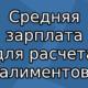 Средняя зарплата в России в 2019 году для расчета алиментов по данным Росстата